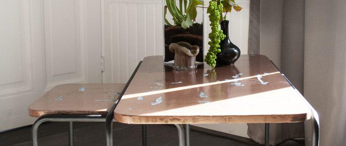 Tafelbladen afgewerkt met MetalStuc